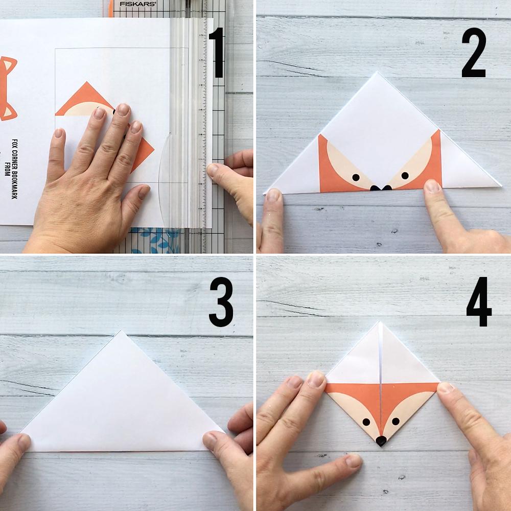 Đánh dấu gấp dễ thương! Bảy mẫu origami động vật rừng khác nhau. Chỉ cần in, cắt và gấp. Làm thế nào để tạo một dấu trang góc.