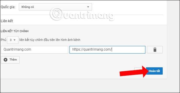 Thêm URL liên kết