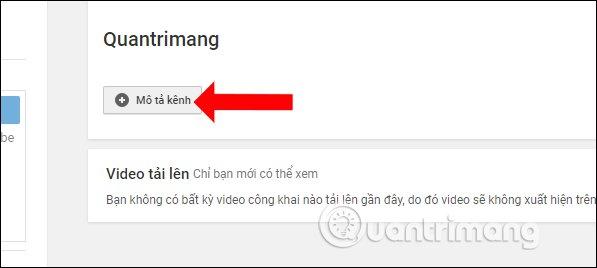 Mô tả cho kênh Youtube