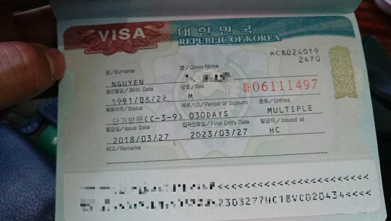 visa hàn quốc loại nhập cảnh nhiều lần