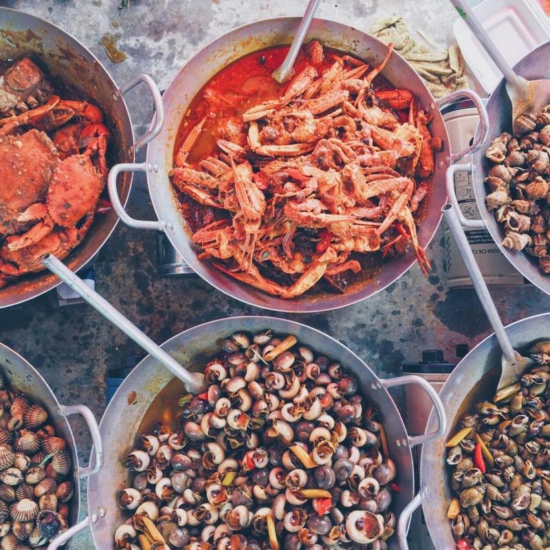 Đến Cần Giờ bạn sẽ tha hồ thưởng thức những món ngon từ hải sản tươi rói