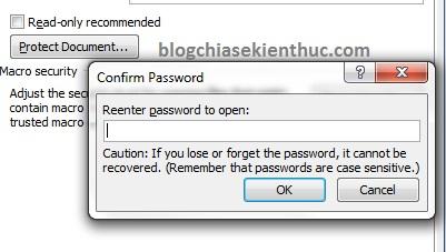 đặt password cho file word 1