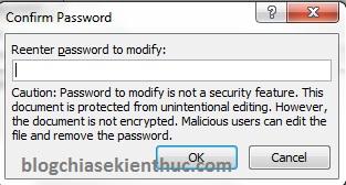 đặt password cho file word 2