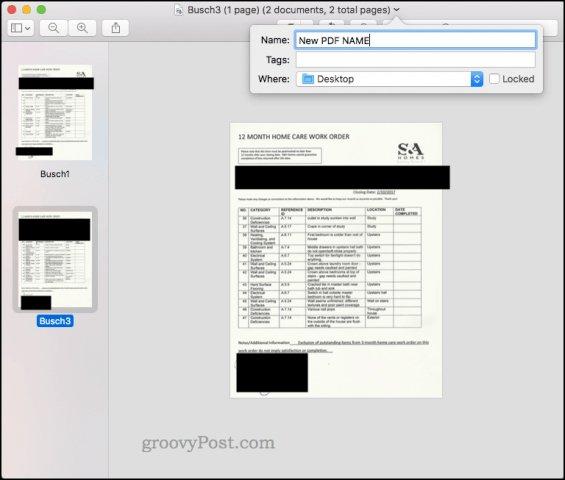 Lưu file PDF mới