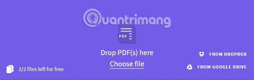 Chọn file PDF muốn gộp trên Smallpdf