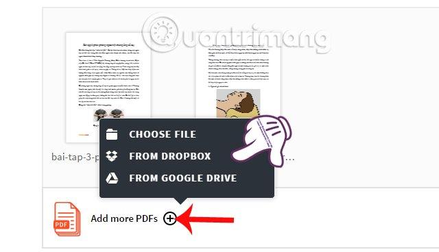 Thêm file PDF muốn gộp