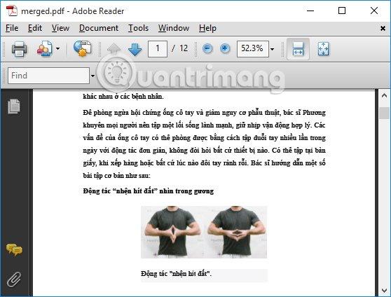 File PDF ghép trên Smallpdf