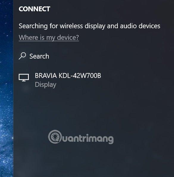 Click vào thiết bị để kết nối