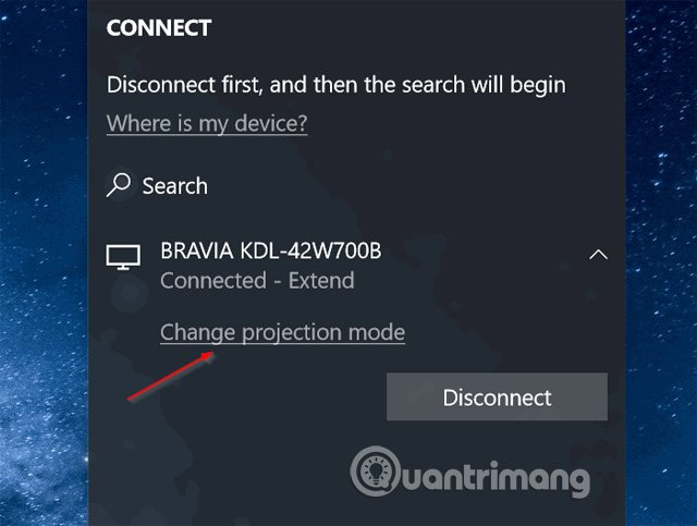 Click vào Change projection mode