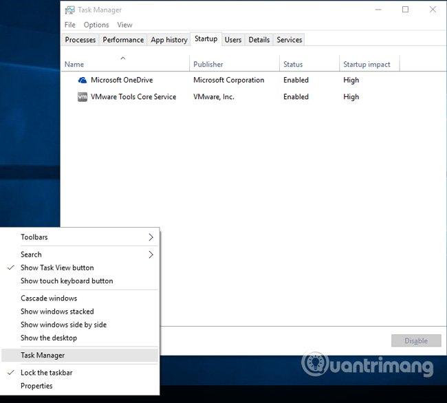 Kiểm tra Windows Startup