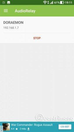 Thấy chữ Stop là kết nối thành công.
