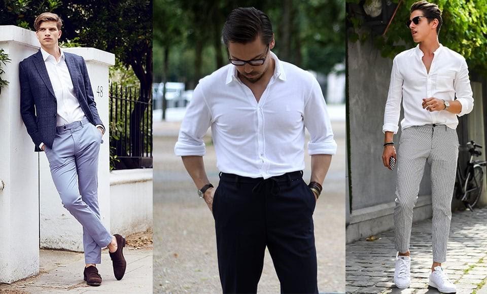 Phối trang phục với màu trắng