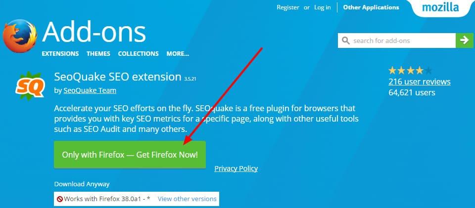 SEOquake cho Firefox