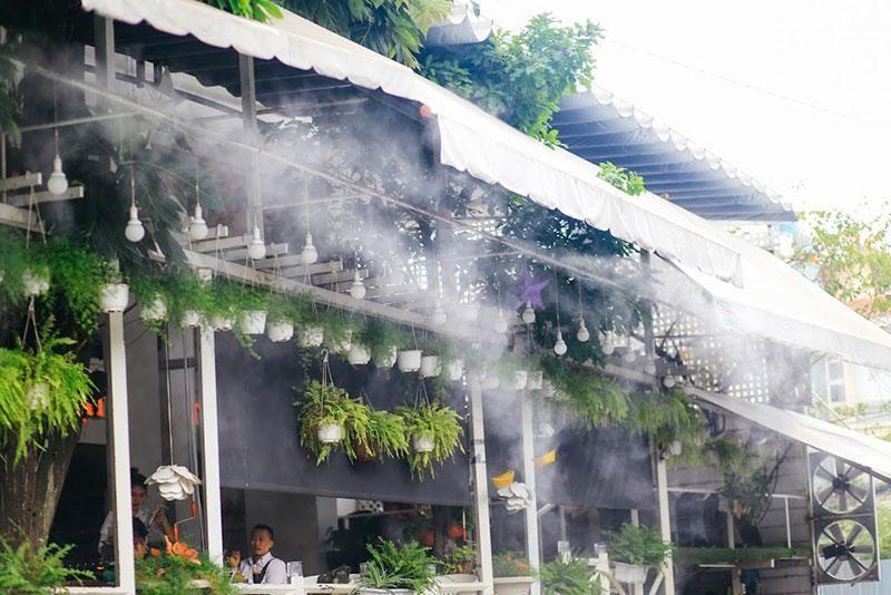 Hệ thống phun sương là thiết bị làm mát và tạo ẩm giá tốt