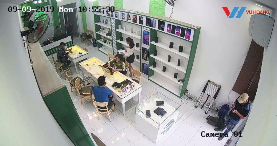 Camera quan sát khu vực bán hàng - Lap dat camera cho cua hang sieu thi shop