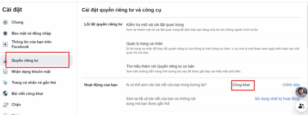 Cai Dat Cong Khai Quyen Rieng Tu