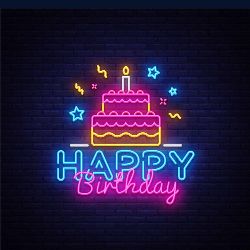 Neon Sign for Happy Birthday Party Custom Made LED Wall Lights Party  Wedding Shop Window Restaurant Decoration|Bóng Đèn & Ống Đèn Neon| -  AliExpress