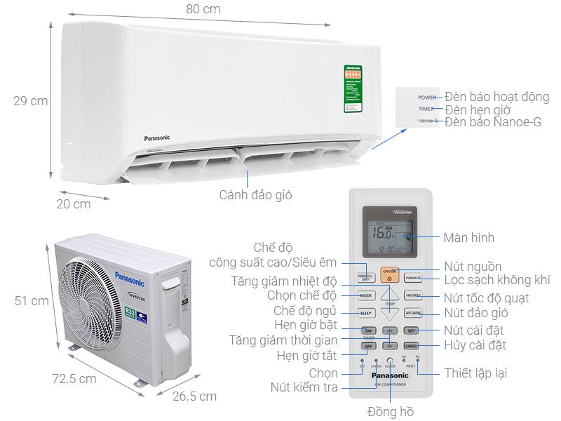 Máy lạnh Panasonic CU/CS-PU9UKH-8 giá rẻ, có trả góp