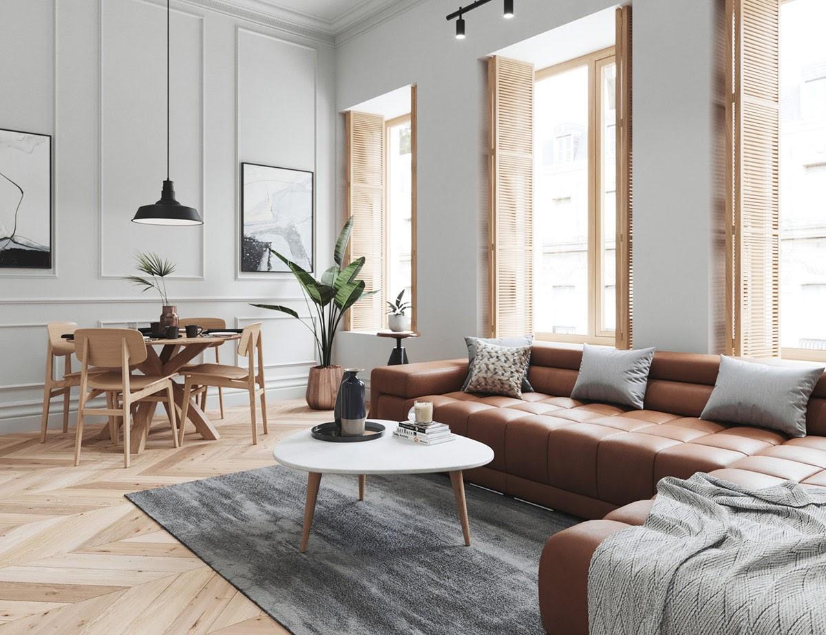 Tối ưu ánh sáng tự nhiên cho phòng khách căn hộ 70m2