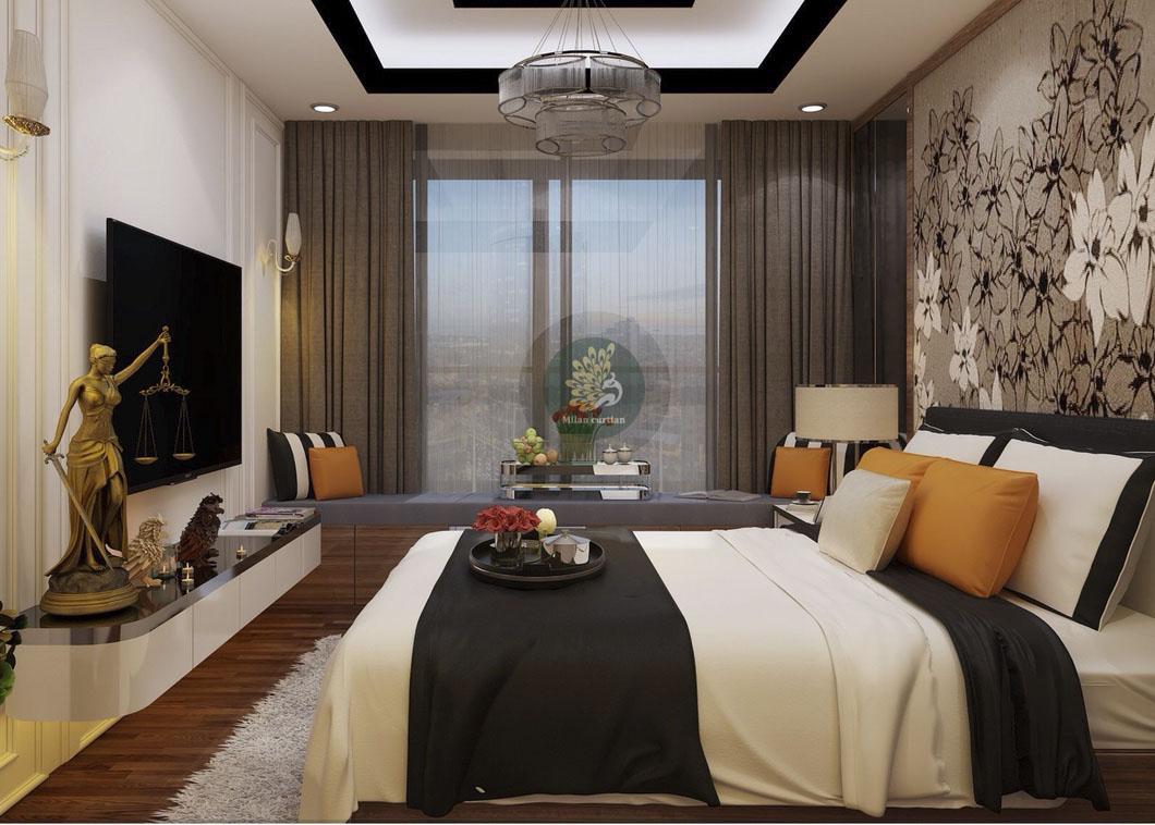 Rèm cửa phòng ngủ vợ chồng tạo nên sự lãng mạn - Rèm cửa Milan