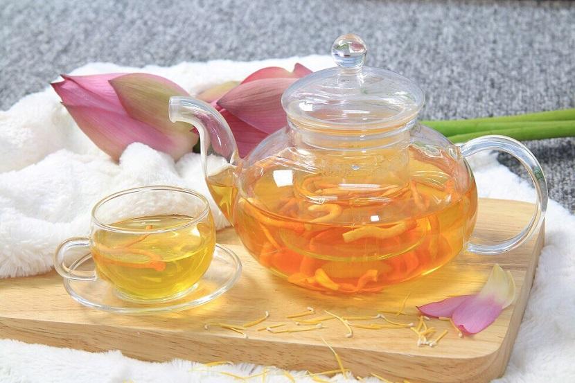 Cách pha trà Đông trùng Hạ thảo ngon, chất lượng VinaRI hệ thống Yến Sào Khánh Hòa, Đông Trùng Hạ Thảo, Trà Thái Nguyên